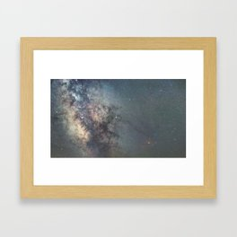 Milky way Antares Region wide angle view Framed Art Print