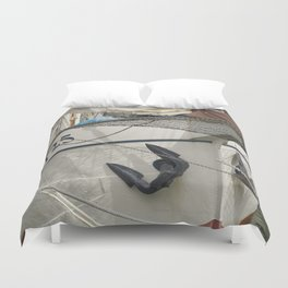 In the harbour of Rotterdam Duvet Cover