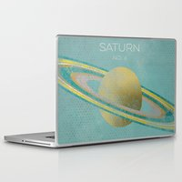 saturn Laptop & iPad Skins featuring Saturn by Metron