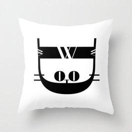 Bodoni Kitten Throw Pillow