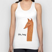mr fox Tank Tops featuring Mr Fox by Mrs Ricefield