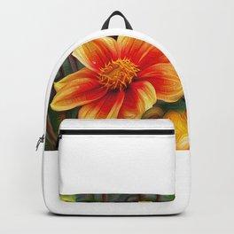 Orange Flower, DeepDream style Backpack