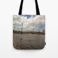 pittsburgh Tote Bags featuring Pittsburgh by Jaime Viens