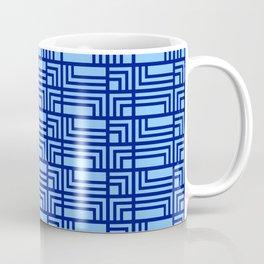 Blue Ocean Pattern | Sea | Geometric | Greece Inspired | Square Shapes | Art Deco | For Him Coffee Mug