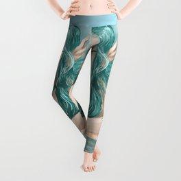 Aqua Blue  Leggings