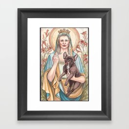 Our Blessed Rebel Queen, Carrie Fisher Framed Art Print