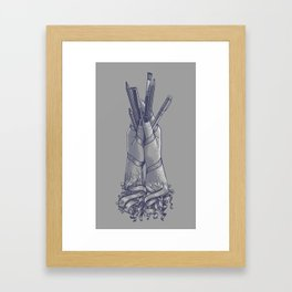 An Artist's Hands Framed Art Print