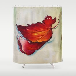 Platanus Leaf Shower Curtain