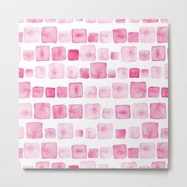 Pink and square Metal Print