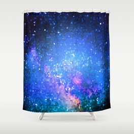 Blue Pixel Sky Shower Curtain