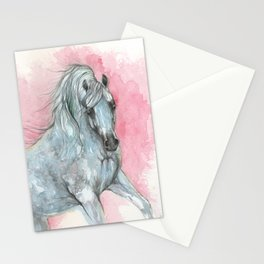arabian horse on pink background Stationery Cards