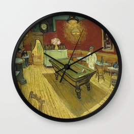 The Night Cafe by Vincent van Gogh Wall Clock
