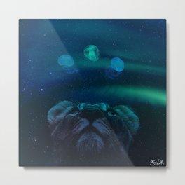 Galactic Lion in Galaxy Metal Print
