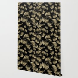 Palm Leaves Pattern - Gold Cali Vibes #5 #tropical #decor #art #society6 Wallpaper