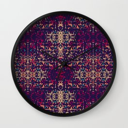 Weathered Looked Vintage Tapestry Pattern Wall Clock