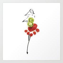 Edible Ensembles: Tomato Art Print