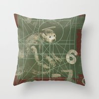 pixies Throw Pillows featuring Pixies - Doolittle by NICEALB