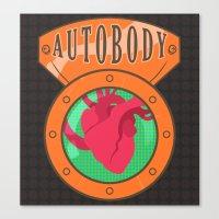 bioshock infinite Canvas Prints featuring Betterman's Autobody - Bioshock Infinite by Jacob Hansen