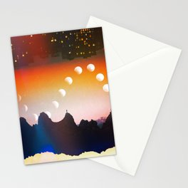 City Moon Phases  Stationery Cards