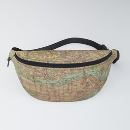 Vintage Map of New York City (1913) Fanny Pack