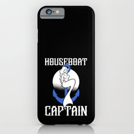 Houseboat Captain Mermaid Boating Captain Anchor iPhone Case