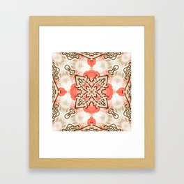 Kaleidoscope Guarded Rose Garden Print Framed Art Print