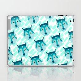husky - wht pattern Laptop & iPad Skin