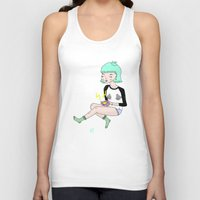 gameboy Tank Tops featuring Gameboy Babe by A leskiweejus