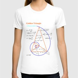 Golden Triangle & Fibonacci Numbers T-shirt