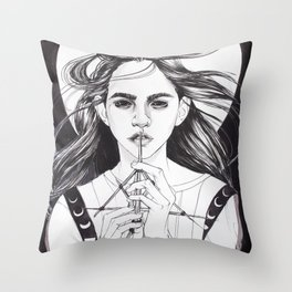 Witch: Divining Throw Pillow