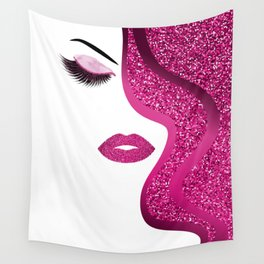 glittery woman Wall Tapestry