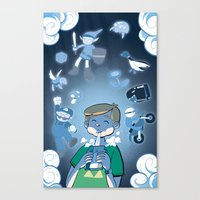 video games Canvas Prints featuring Classic Video Games by Scott Hallett
