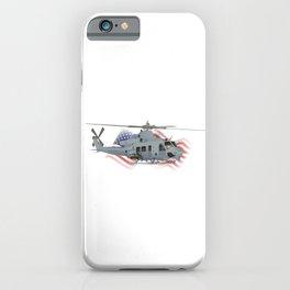 Patriotic UH-1Y Venom Helicopter iPhone Case