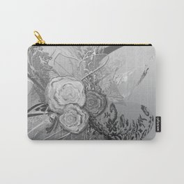 50 Shades of lace Silver Silver Carry-All Pouch