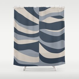wavy nay Shower Curtain