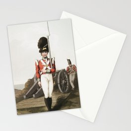 Illustration of grenadier or the first West York militia from The Costume of Yorkshire (1814) by Geo Stationery Cards