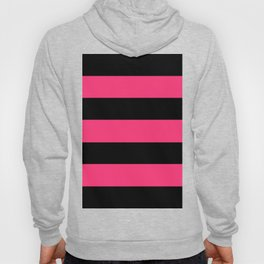 Black and Pink Stripes Hoody