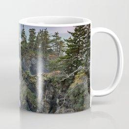 Oregon's Natural Bridges at sunset Coffee Mug