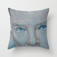 cumberbatch Throw Pillows featuring Cumberbatch by Artfully Alexa
