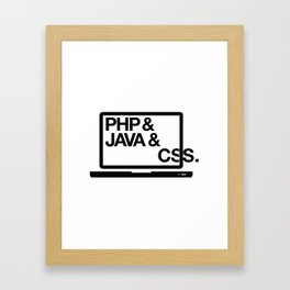 Code Problem Framed Art Print