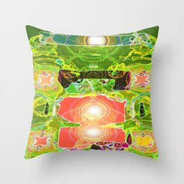 Energy Overload Throw Pillow