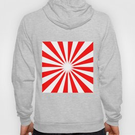 Red And White Bright Ray Background Hoody