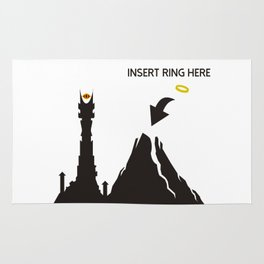 Lord of the Ring Intructions Rug