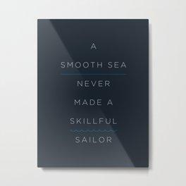 A Smooth Sea Metal Print