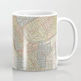 Vintage Map of Nashville Tennessee (1920) Coffee Mug