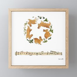 Bunny's footsteps Framed Mini Art Print