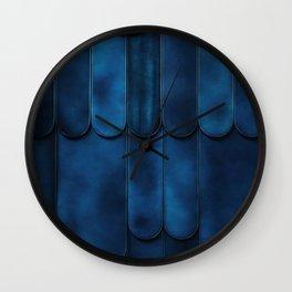 Cool Calm Indigo Color Design Wall Clock