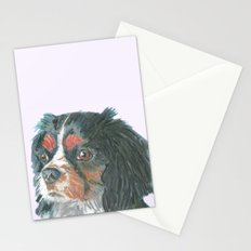 Cavalier King Charles Spaniel , Jiri Bures original art and design Stationery Cards