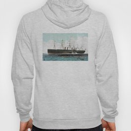 Vintage SS Great Eastern Steamboat Painting (1858) Hoody