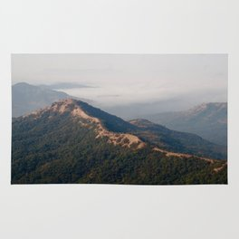 misty mountains Rug